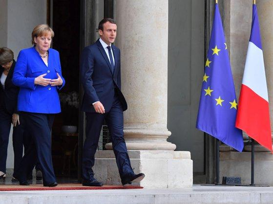 Imaginea articolului Emmanuel Macron a felicitat-o pe Angela Merkel pentru realegerea sa în funcţia de cancelar al Germaniei