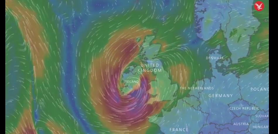 IMAGINILE ZILEI: Uraganul Ophelia se îndreptă spre Europa. Autorităţile britanice şi irlandeze, în alertă