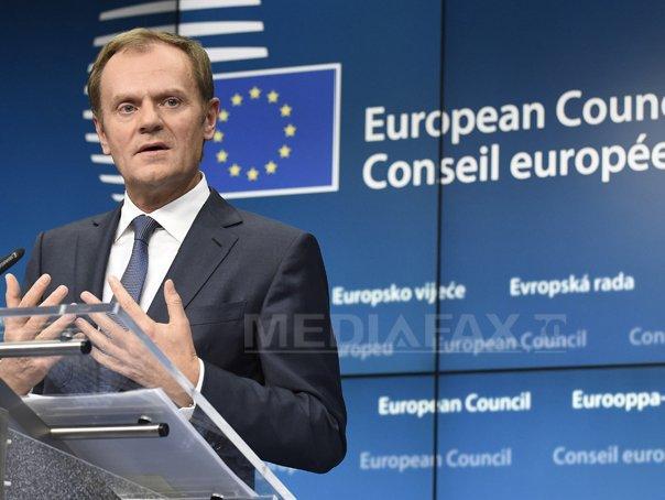Preşedintele Consiliului European a propus organizarea unui summit extraordinar UE în România la câteva săptămâni după Brexit