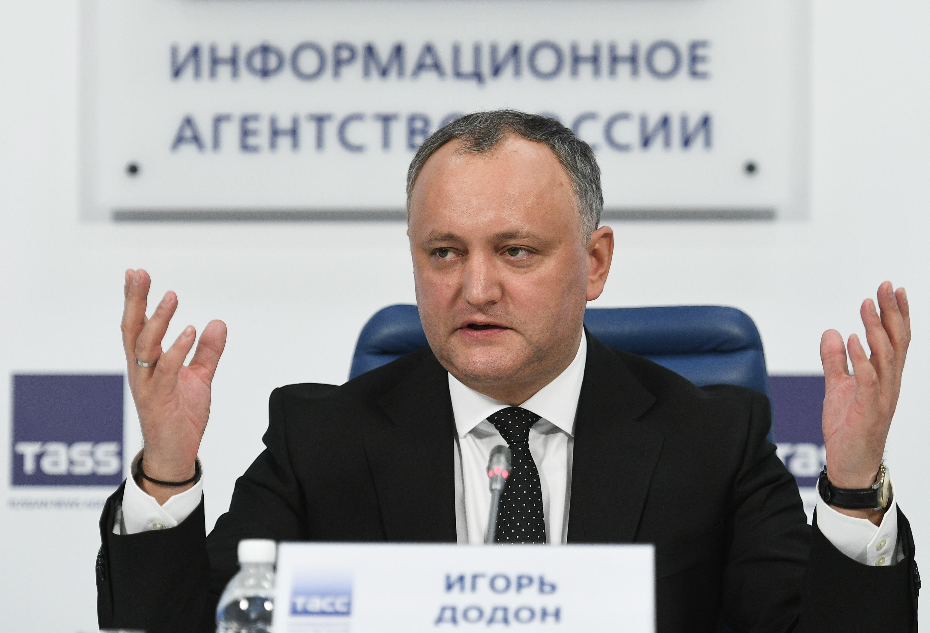 Preşedintele Parlamentului Republicii Moldova anunţă declanşarea procedurii în cazul lui Igor Dodon
