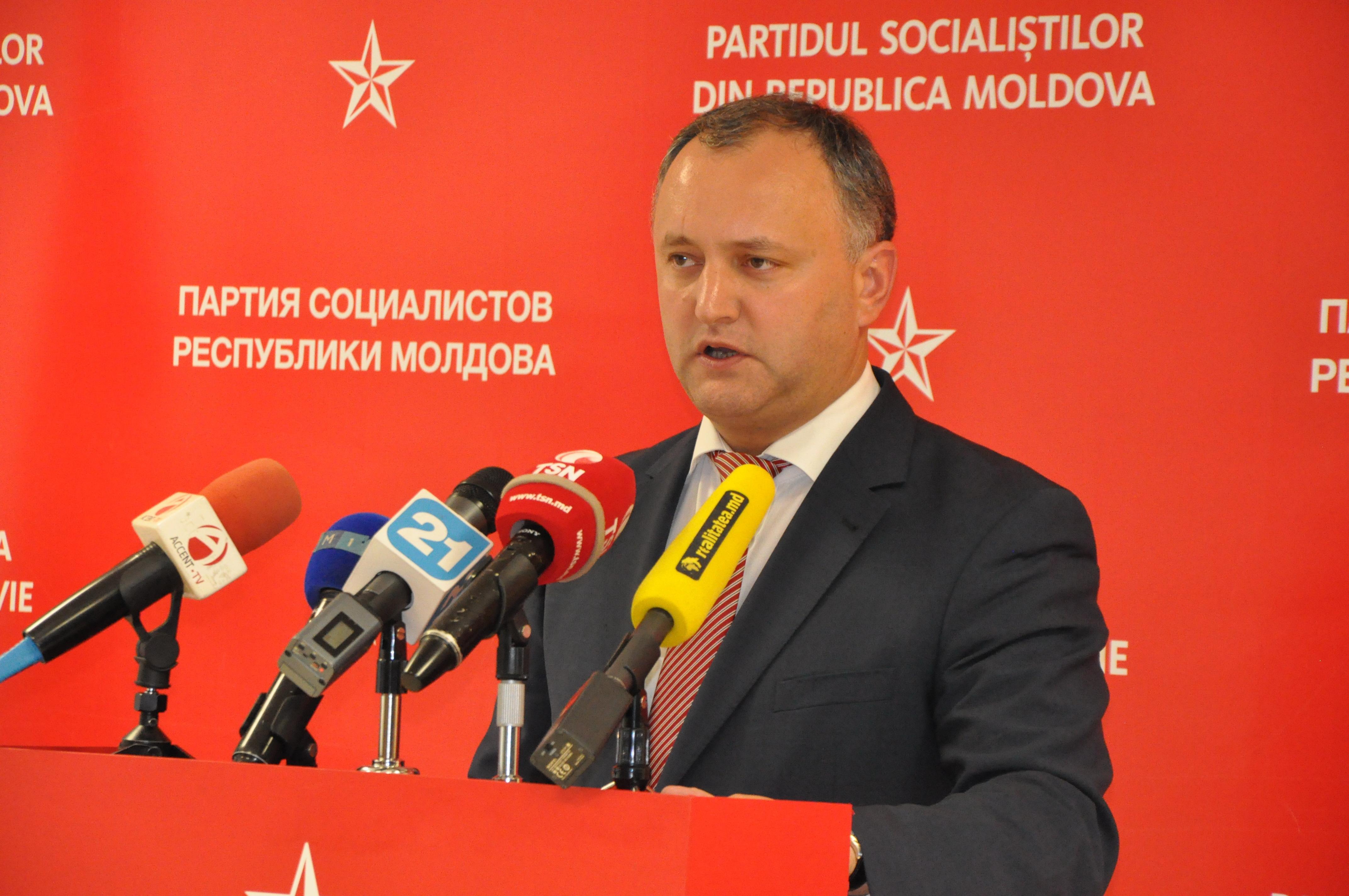 Igor Dodon susţine iniţiativa socialiştilor pentru ca Republica Moldova să devină o republică prezidenţială