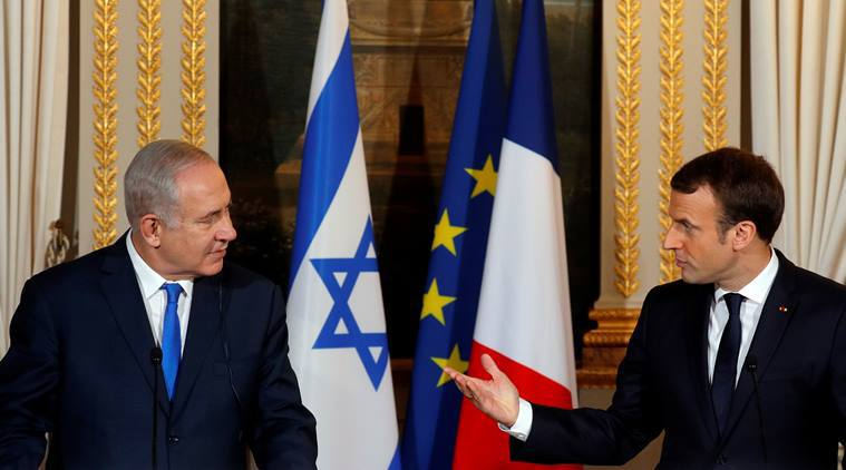 """Macron îl îndeamnă pe Netanyahu să facă """"gesturi curajoase"""" pentru pacea israeliano-palestiniană"""