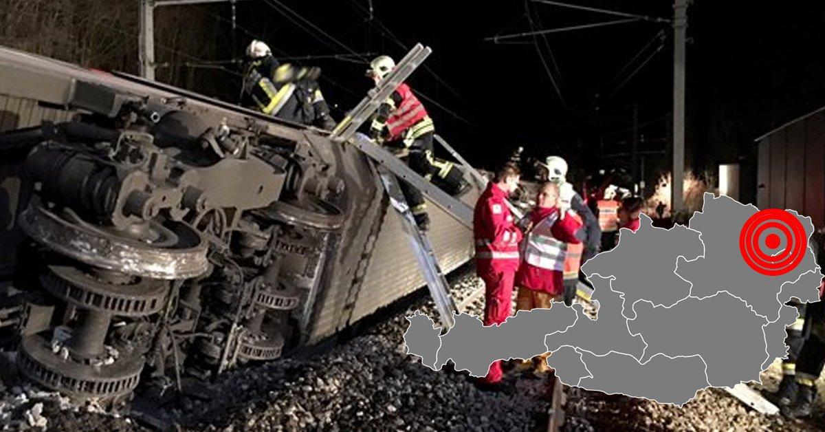 ACCIDENT feroviar în Austria: Două trenuri s-au ciocnit în apropiere de Viena. Cel puţin 20 de persoane au fost rănite, iar unele sunt în stare gravă   FOTO