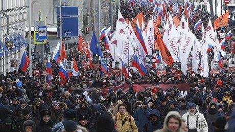 Imaginea articolului Mii de ruşi au participat la un marş în memoria lui Boris Nemţov, asasinat în urmă cu trei ani în apropierea Kremlinului