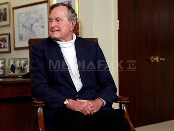 Imaginea articolului Fostul preşedinte american George H.W. Bush a fost spitalizat, la o zi după funeraliile soţiei sale