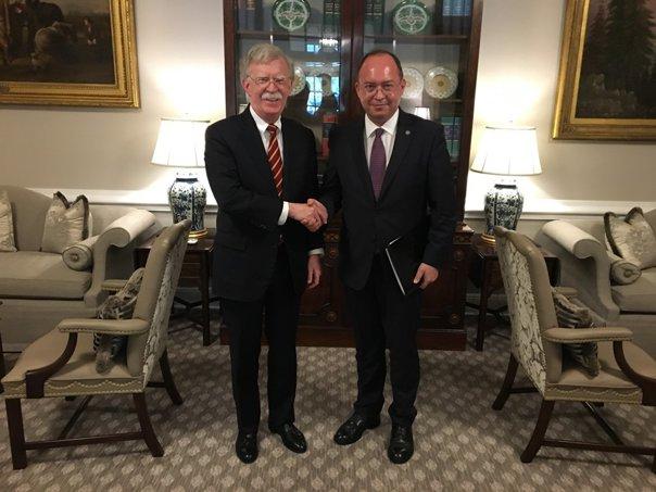 Imaginea articolului Consilierul prezidenţial Bogdan Aurescu a avut o întrevedere la Casa Albă cu John Bolton, consilier pentru Securitate Naţională al preşedintelui SUA