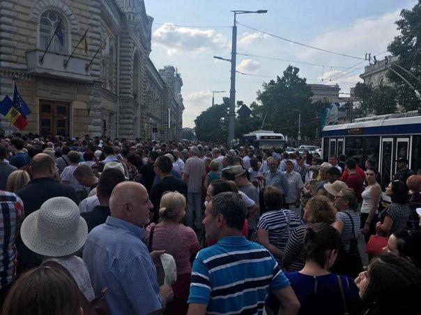 Imaginea articolului PROTESTE în Chişinău după anularea scrutinului prin care Andrei Năstase a fost ales primar