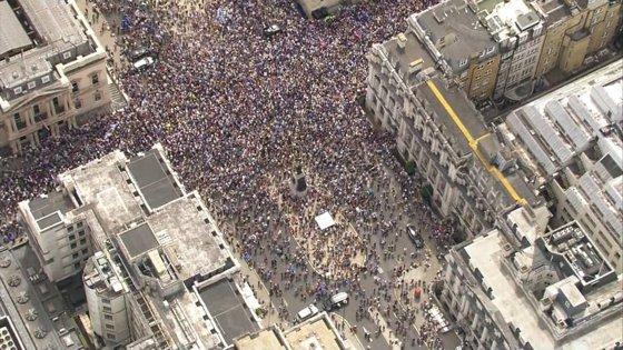 Imaginea articolului Protest anti-Brexit, la doi ani de la votul istoric: Manifestanţii au cerut un nou REFERENDUM