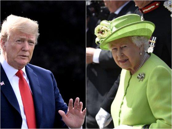 """Imaginea articolului Trump vrea un nou mandat pentru că """"toată lumea"""" i-l cere / Preşedintele o laudă pe regina Elizabeth"""