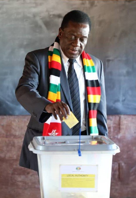 Mnangagwa, the winner of the controversial presidential election in Zimbabwe