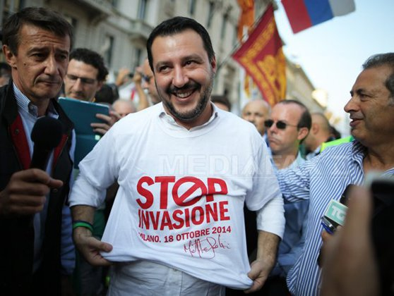 Italian image Matteo Salvini and Hungarian Viktor Orban want anti-migration front