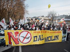 Protest în Italia faţă de extinderea unei baze militare americane