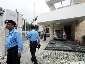 Ambasada Danemarcei din Islamabad (Imagine: Mediafax/AFP)