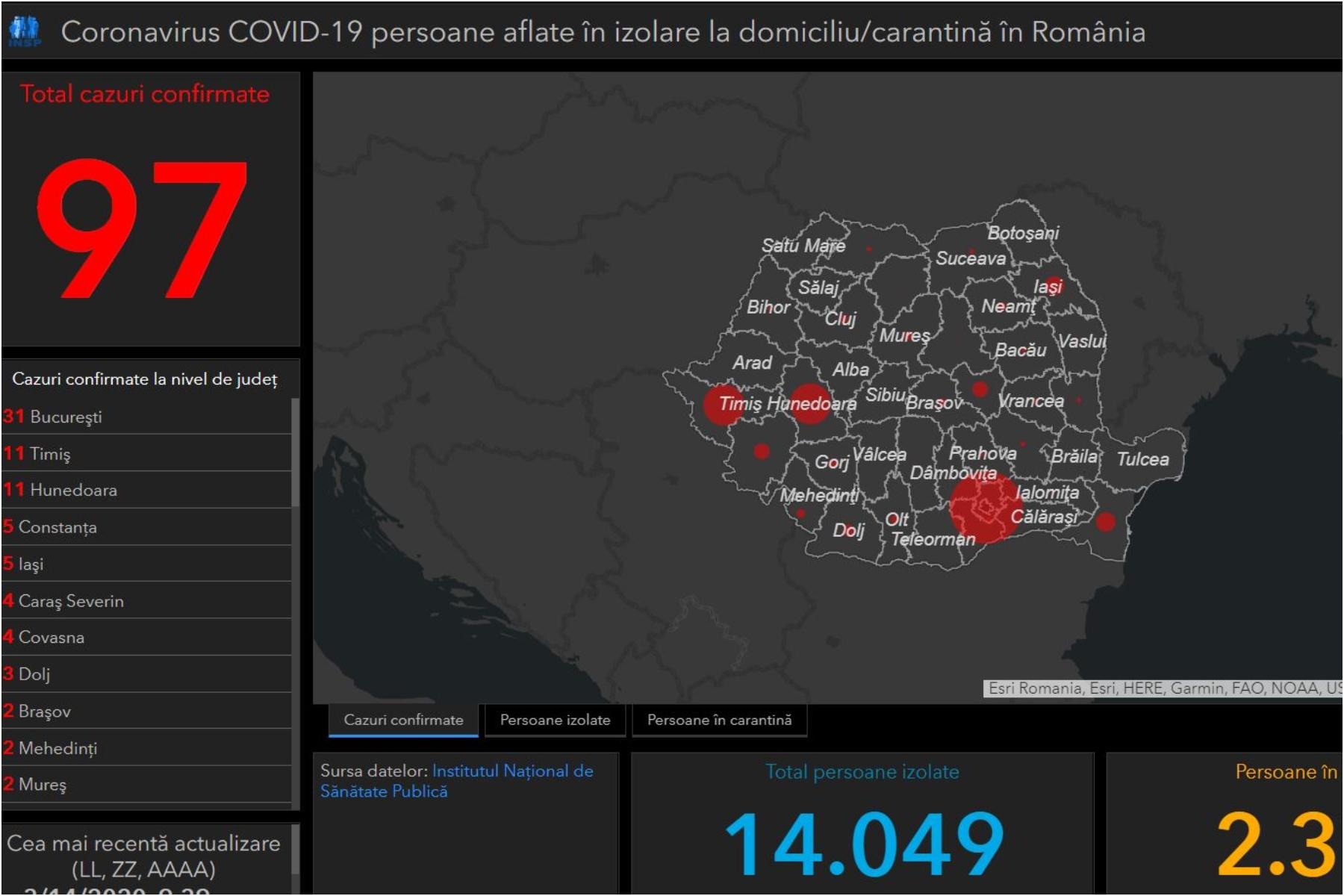 Harta Coronavirusului In Romania Topul Judeţelor Cu Cele Mai