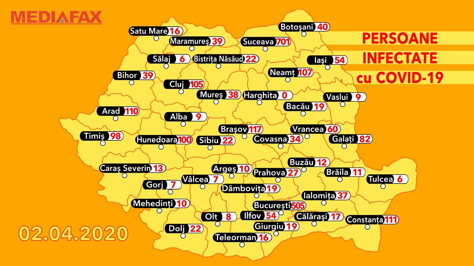 Harta Cazurilor Din Romania Publică Pentru Prima Dată Care Sunt