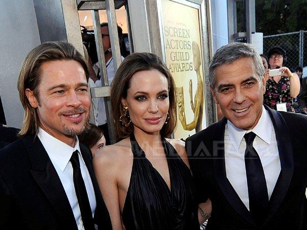 George Clooney: Sunt foarte bucuros pentru Brad si Angie si pentru toata familia lor