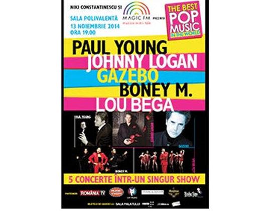 """Imaginea articolului """"The Best Pop Music in The World"""": Paul Young, Lou Bega, Boney M., Johnny Logan şi Gazebo concertează, pe 13 noiembrie, în Bucureşti"""