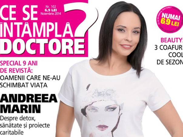 "Andreea Marin, pe coperta aniversara a revistei ""Ce se �nt�mpla, doctore?"""