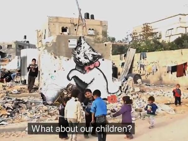Videoclip realizat de Banksy despre dezastrul din Fâşia Gaza - IMAGINI surprinse la 6 luni de la finalul războiului