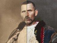 Imigranţi români în SUA. Fotografii restaurate după 100 de ani: Ciobanul român şi omul cu fluierul - GALERIE FOTO