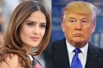 Pericol public Donald Trump. Victimă: Salma Hayek - VIDEO