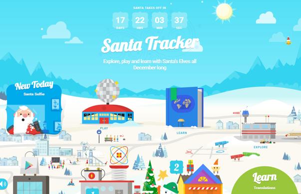 """Imaginea articolului Sărbători de iarnă 2016. Google a lansat platforma """"Pe urmele lui Moş Crăciun"""" cu jocuri şi explorare de sărbători"""