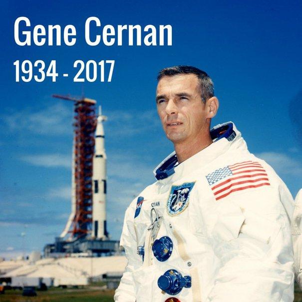 Imaginea articolului FOTO, VIDEO A murit ultimul om care a păşit pe Lună. Eugene A. Cernan avea 82 de ani