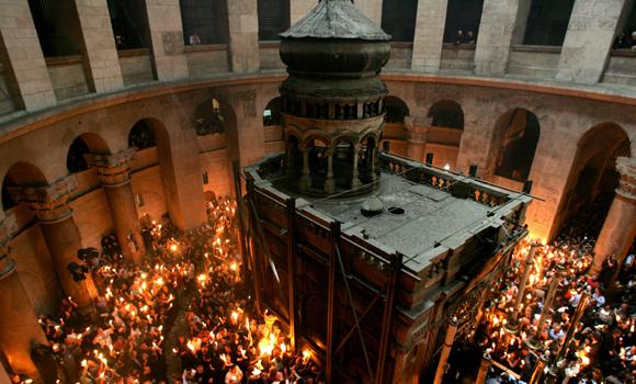 Imaginea articolului FOTO Lucrările de restaurare a Sfântului Mormânt al lui Iisus Hristos au fost finalizate