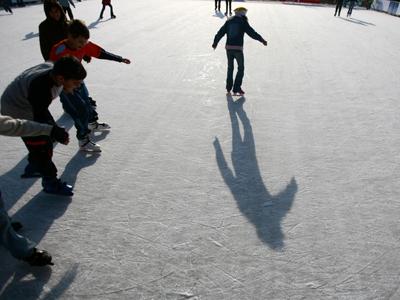 IMAGINILE ZILEI: Portul îngheţat din Toronto, transformat într-un patinoar imens