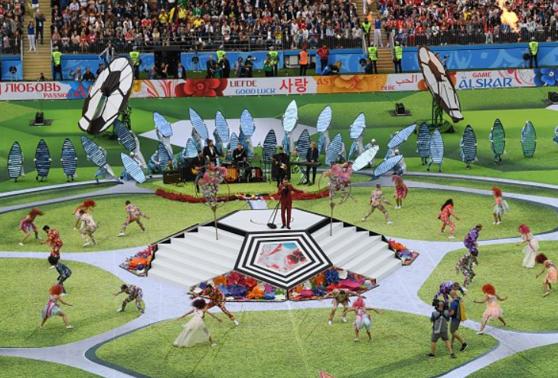 Imaginea articolului GESTUL ŞOCANT făcut de Robbie Williams la ceremonia de deschidere a Campionatului Mondial 2018   VIDEO