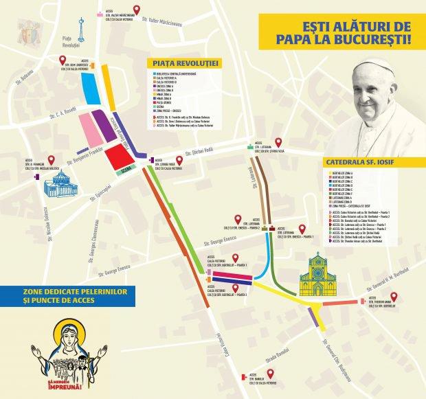 Traseul Papei Francisc La Bucuresti Punctele Unde Poate Fi