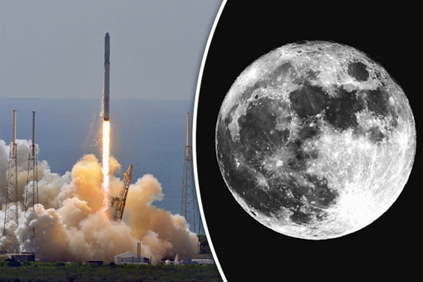 """SpaceX va """"plimba"""" doi turişti în jurul lunii anul viitor"""