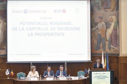 """Conferinţa ZF şi BCR """"Potenţialul României, de la capitalul de încredere la prosperitate"""". Potenţialul şi ambiţia românilor pot conduce la dezvoltarea ţării. Dar ne trebuie încredere şi timp"""