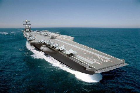 Noul portavion de 13 miliarde de dolari al marinei americane. Este cea mai mare şi cea mai scumpă navă de răbzoi din lume. Galerie FOTO