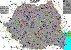 Harta cu starea drumurilor din România