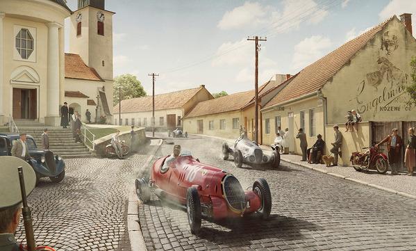 Cum ar arăta o cursă de Formula 1 din 1934 dacă ar fi fotografiată azi