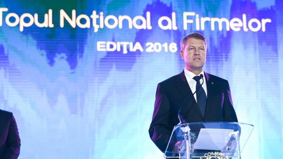 Iohannis, la Gala Topul National al Firmelor 2018: Rezultatele bune ale companiilor din Romania sunt umbrite de incetinirea cresterii economice
