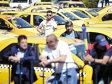 Protest anti-Uber la Palatul Victoria. Sindicaliştii: şoferii de Uber ar putea fi amendaţi pentru transportul neautorizat de persoane. Guvernul nu confirmă
