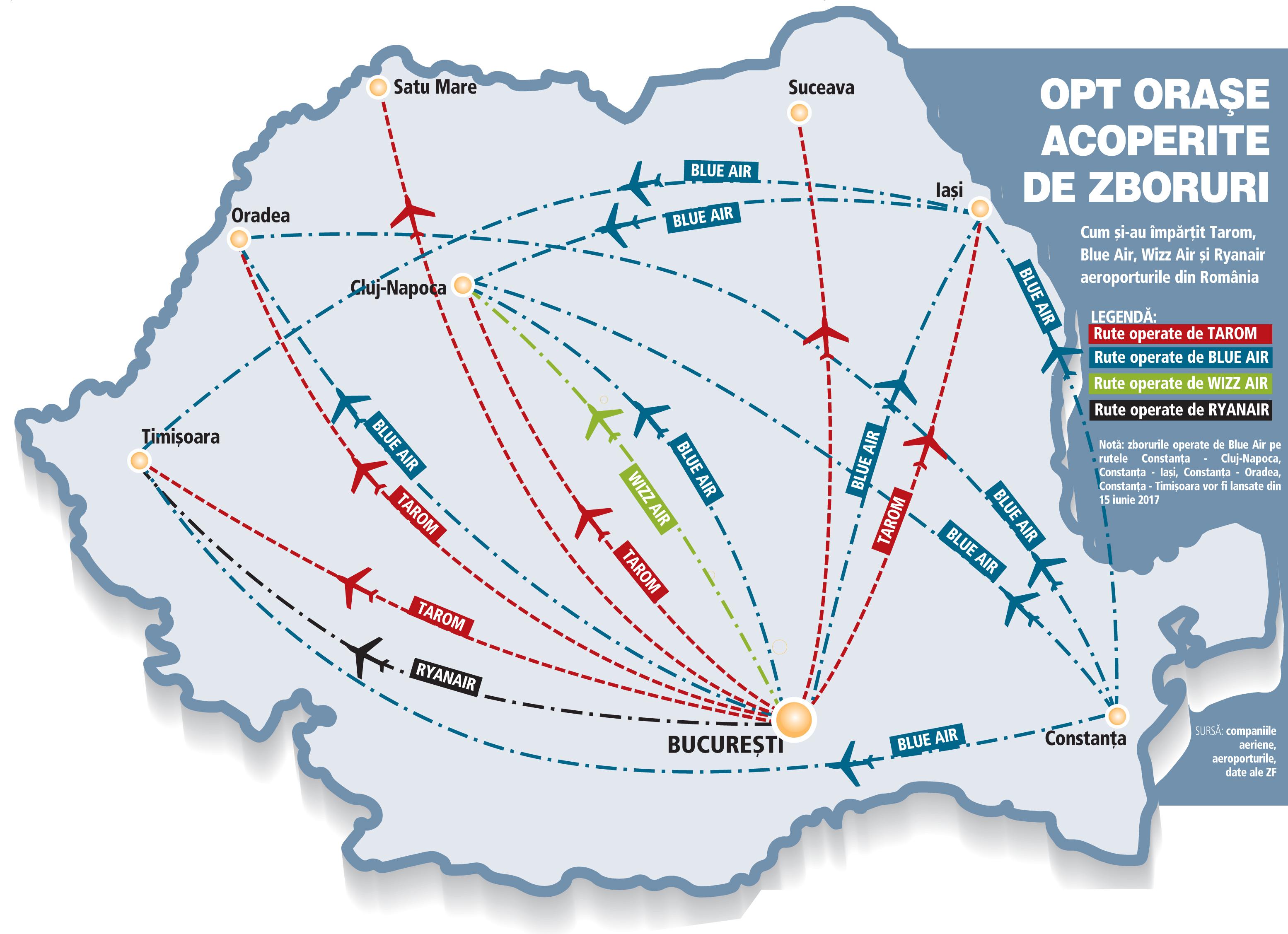 Harta Zborurilor Interne Constanţa Este Pariul Transportatorilor