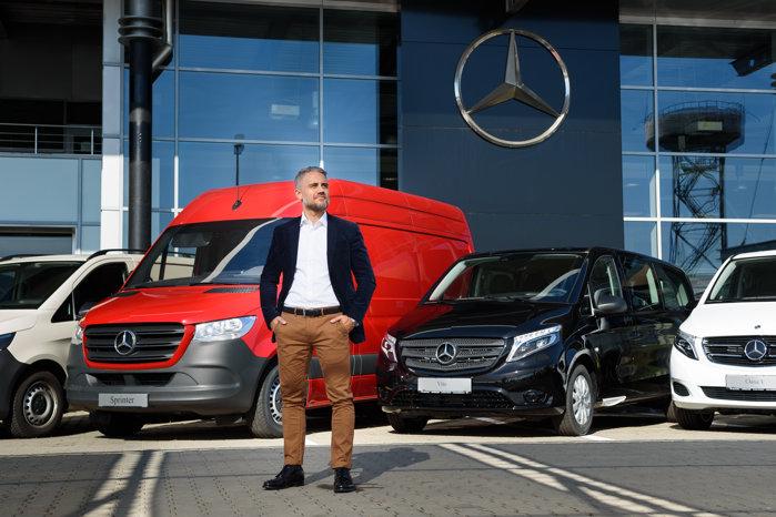 Batiste Pascalin, noul şef Mercedes-Benz Vans România, după ce Rolf Rosendaal şi-a încheiat mandatul şi a preluat o