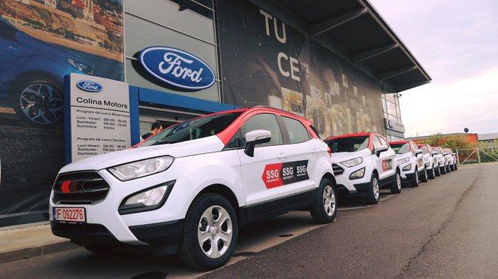 Colina Motors, dealerul Ford din sudul Bucureştiului, a livrat către o firmă de pază 20 de SUV-uri EcoSport de peste 300.000 euro