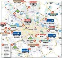 Harta magazinelor de bricolaj din Bucureşti
