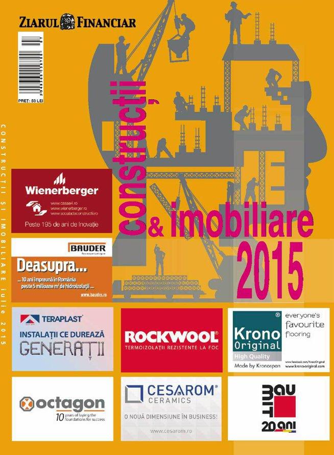 Anuarul ZF Construcţii şi Imobiliare 2015: analize, interviuri şi topuri despre un sector de 8-9 mld. euro