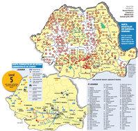 Harta bogăţiilor din subsolul României (2014)
