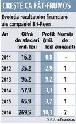 Grafic: Evoluţia rezultatelor financiare ale companiei Bit-Reen (2011-2016)