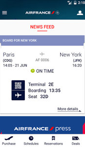 Aplicaţia zilei: Air France - Airline tickets