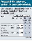 Salariul mediu din telecom a urcat la 3.400 de lei net în 2016, dar este cu 38% sub cel din IT