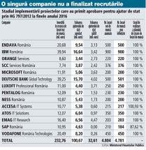 Giganţii IT care au primit undă verde pentru ajutoare de stat în 2013/2014 au recrutat 4.781 de oameni