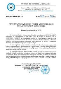 """Noul preşedinte al arbitrului telecom Adrian Diţă provoacă uluire la Curtea de Conturi cu o cerere de """"devansare"""" a controalelor: """"Nu înţelegem solicitarea dumneavoastră"""""""
