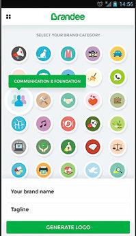 Aplicaţia zilei: Brandee - Free Logo Maker & DIY Logo Creator